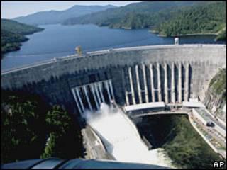 Саяно-Шушенская ГЭС (вид с высоты)