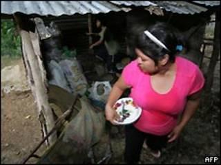 Mexicana em um bairro pobre (arquivo)