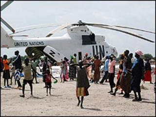 طائرة تابعة للامم المتحدة في جنوب السودان