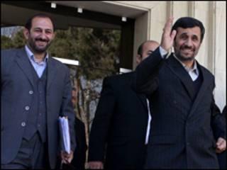 احمدی نژاد و سعیدلو- عکس از خبرگزاری مهر