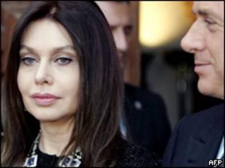 Veronica Lario y Silvio Berlusconi