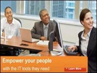 Imagem original de site da Microsoft nos Estados Unidos