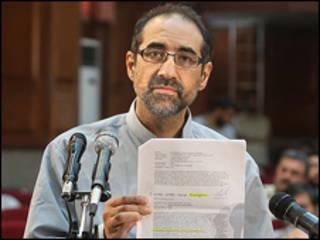 تصویر کیان تاجبخش در دادگاه