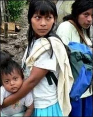 Índios da tribo Awa (arquivo)