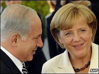 Benjamin Netanyahu y Angela Merkel