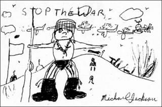 Desenho feito por Michael Jackson em 1971, aos 13 anos