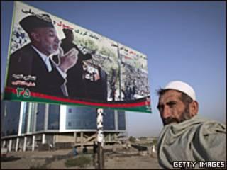 Cartel de Hamid Karzai