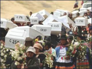 Cortejo fúnebre no Peru