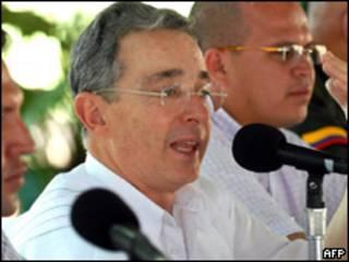 O presidente da Colômbia, Álvaro Uribe (AFP, 29 de agosto)