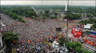 वाम दलों की रैली