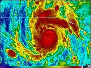 Imagen del huracán Jimena