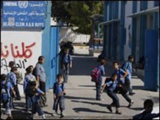 تلاميذ المدارس في غزة