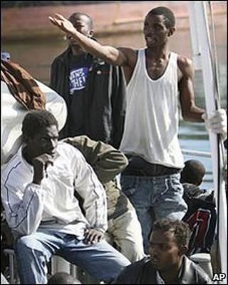 Inmigrantes indocumentados de África