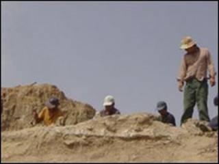 Escavação em Gansu