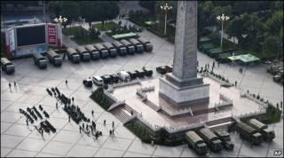 Praça do Povo em Urumqi
