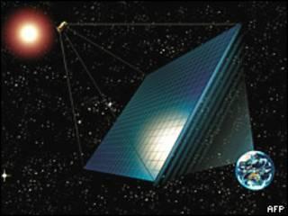 Proyecto de estación eléctrica espacial.