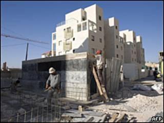 Construcción de un asentamiento en Jerusalén Este.