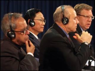 Ministros de finanzas del BRIC