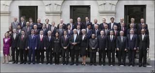 Ministros de Economía del G20.