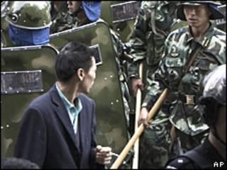 Protestas en Urumqi.