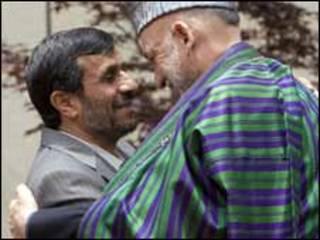 حامد کرزی و محمود احمدی نژاد
