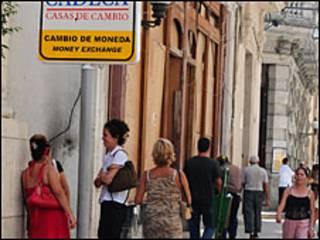 Casa de cambio en La Habana.