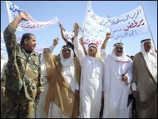 متظاهرون من مدينة حويجة شمالي العراق