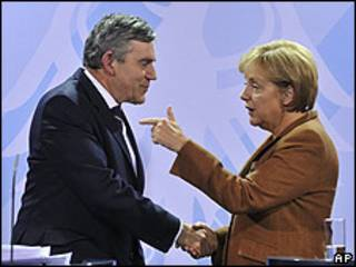 Angela Merkel, Gordon Brown