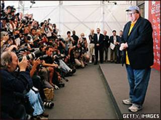 Michael Moore en Venecia