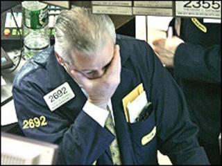Operador en el mercado de Nueva York