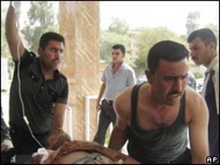 Policía iraquí herido en bombardeo en Irak