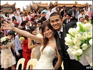 စုပေါင်း လက်ထပ်ပွဲမြင်ကွင်း