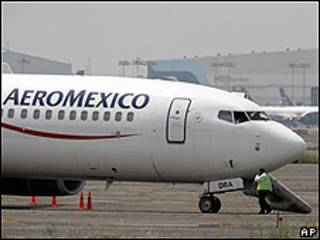 Avión mexicano secuestrado