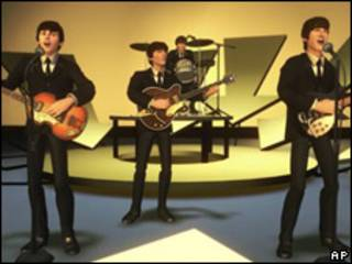 "Imagen del videojuego  ""The Beatles: Rock Band."""