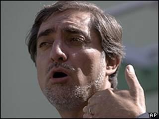O candidato à Presidência do Afeganistão Abdullah Abdullah