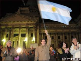 Fazendeiros protestam contra o governo em Buenos Aires (Getty Images, 20 de agosto)