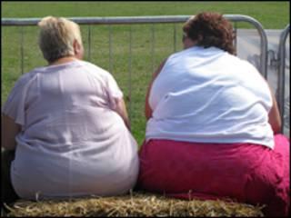 Две женщины, страдающие избыточным весом