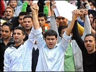 भारतीय छात्रों का विरोध प्रदर्शन