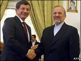 وزيرا الخارجية الإيراني والتركي