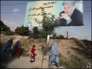 Publicidad electoral en Afganistán