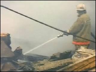 Incendio en Kazajistán