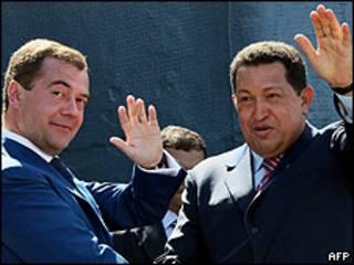 Medvedev e Chávez