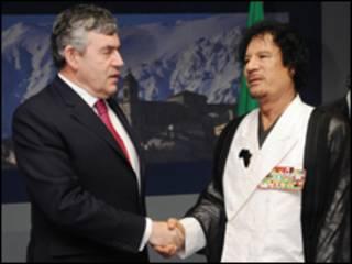 Brown và Gaddafi