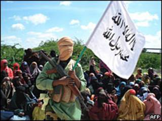 Militante islamista en Somalia.