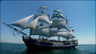 Navio HMS Bounty. Foto: HMS Bounty Organization LLC