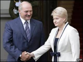 Александр Лукашенко и Даля Грибаускайте