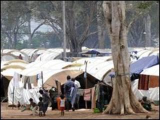 مخيم للنازحين في سريلانكا
