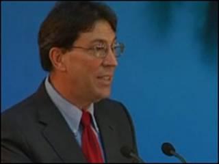 O ministro das Relações Exteriores de Cuba, Bruno Rodríguez