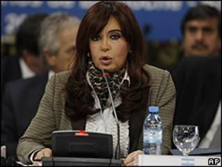 A presidente da Argentina, Cristina Kirchner