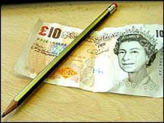 铅笔与英镑